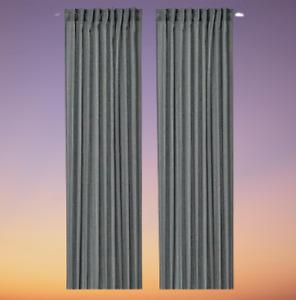 *New* MILDRUN Curtains,1 pair Dark grey/striped 145x250 cm 804.808.02 Brand IKEA