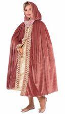 Child's Girls Hooded Princess Dress Up Cosplay Costume Cape Pink Mauve Velvet