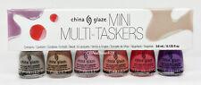 China Glaze Active Colour - MINI MULTI-TASKERS - 6 Colors x 3.6ml/0.125oz