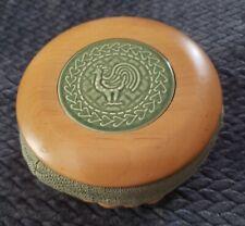 2004 Longabe 00006000 rger Coaster Basket W/Fabric Liner Wooden Lid & 1 Coaster