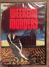 Weekend Murders Code Red DVD Sealed Rare OOP Horror Giallo Italian