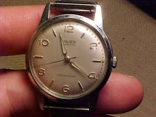 VINTAGE GRUEN PRECISION WATERPROOF MANS WRISTWATCH - STAINLESS BACK