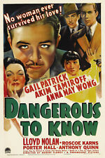 Dangerous to Know - 1938 - Anna May Wong Robert Florey Vintage Crime Film DVD
