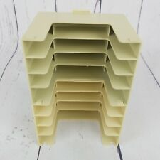 Lot of 2 VINTAGE READER'S READERS DIGEST CASSETTE 4 TAPE PLASTIC HOLDERS STORAGE