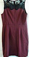 Forever 21 Burgundy Dress With Black Floral Design Size M