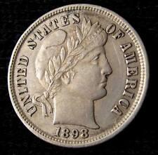1898 BARBER DIME - AU DETAILS #16124