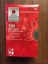 New 100 Ct Red Mini String Lights Indoor Outdoor Wedding Memorial Day Party