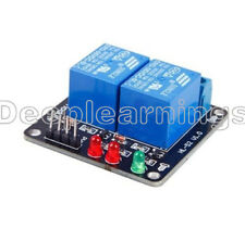 DC 5V Indicator Light LED Two 2-Channel Relay Module Arduino ARM PIC AVR DSP