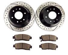 FRONT Black Edition Cross-Drilled Brake Rotors /& Ceramic Brake Pads FBX.66067.02