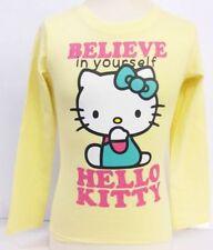 Vêtements jaune à manches longues pour fille de 2 à 16 ans en 100% coton