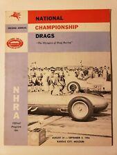1956 NHRA NATIONALS ORIG. PROGRAM 2ND FINALS DRAG RACING AUTO HOT RODS FUNNY CAR
