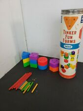 23 piece Tinker Toys wood and plastic building blocks & Rods!! 3B