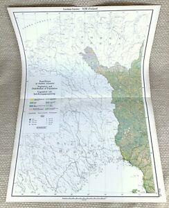 1925 Antique Map Finland North West Finnish Population Distribution Vegetation