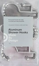 New Double Glide Rustproof Aluminum Shower Curtain Hooks