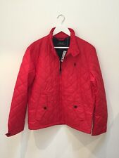 Ralph Lauren Mens Classic Quilted Barracuda Windbreaker Jacket Red Size M