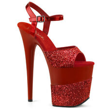 """8"""" Gold Glitter Platform Stripper Shoes Pole Dancer Pleaser Flamingo Heels 7 8 9"""
