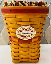 1998 RARE! Longaberger May Series SNAPDRAGON BASKET COMBO Liner Pro Tie-On 10863