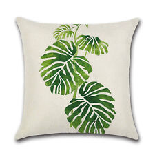 Africa Tropical Plant Print Cushion Cover Green Leaves Pillow Case Decoration 3#