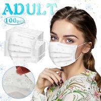 10-100stk Spitzengaze Maske Mund-Nasen-Schutz Gesichtsvisier 3-lagig Behelfsmask