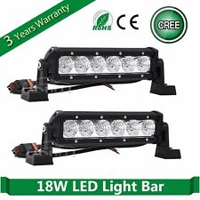 2x 8inch 18W Cree LED Work Light Bar Fog Driving Lamp 4WD Offroad SUV ATV Flood