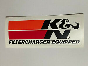 Sticker K & N Filtercharger Equipped Performance Parts Ford Chev Decal Holden