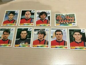 Panini World Cup 1998 - 9 x Spain stickers - MINT condition