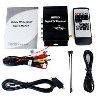 for USA Canada Mexico Car Digital TV ATSC Tuner Receiver Box with 4 Video Output