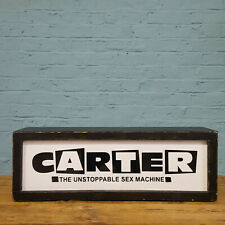 More details for large 'carter the unstoppable sex machine' illuminated sign - electric