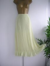 "10 TALL LIME CHIFFON SKIRT PETER MARTIN LONG CALF 37"" PARTY SUMMER HOLS CRUISE"