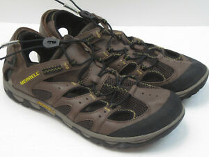 Merrell Portage Web Dark Earth Men's Size 10.5 Brown Hiking Shoes Sandals 8254