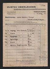THALE, Rechnung 1945, Gustav Oberländer Emaillewaren Haus-Küchengeräte