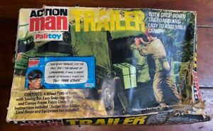 VINTAGE Action Man 1970's Complete Trailer + Box / Packaging.