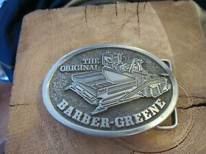 The Original Barber-Greene Model 879 men's belt buckle