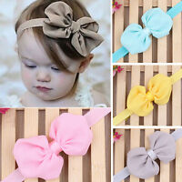 FT- 10Pcs Cute Kids Girl Baby Chiffon Toddler Flower Bow Headband Hair Band Head
