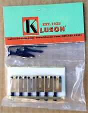 Genuine Kluson 6 String Fixed Hardtail Bridge for USA Fender Strat. GOLD KSB-G