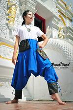 Harem Drop Crotch Bohemian Trousers/Pants Gypsy Unisex Hippie Hmong Baggy 1303