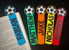 Personalised football bookmark, Kids Personalized bookmark, unique small gift