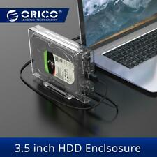 ORICO SATA to USB3.0 HDD Enclosure High Speed 5Gpbs Transparent 3.5 inch Case