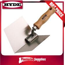 "Hyde Inside Corner Trowel 4"" 102mm Flex Stainless Steel Hardwood Handle 09411"