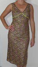 KATHERINE FLOWER EMBROIDERED MESH DRESS - SIZE 10 APPROX