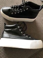 Señoras H & M Negro Plataforma Zapatillas UK 3.5