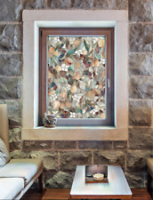 """24""""x36"""" Floral Abstract Decorative Window Film Textured Stained Glass Privacy"""