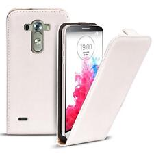 Flip Case LG G3 Case PU Leather Flip Case Phone Case Cover White
