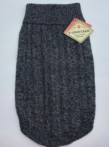 St. John's Bark Quality Pet Apparel Dog Sweater Medium (Chest 19-24in) Gray