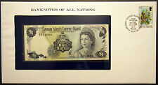 Cayman Islands - $1 - 1983 Uncirculated Banknote enclosed in stamped envelope.