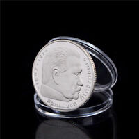 1Pcs Silver-Plated Coins Hindenburg President Commemorative Coin Gift