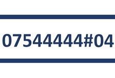 544444 O2 SIM CARD GOLD EASY PLATINUM VIP MOBILE PHONE NUMBER 07544444#04