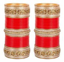 Indian Bridal Choora Chura Set Bollywood Red Bangle Women Wedding Suhag Jewelry
