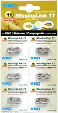 Six (6) - Pack KMC Missing Link for 11-Speed Shimano Campagnolo Campy KMC Chains