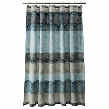 Threshold Scallop Dot Shower Curtain Blue Gray Teal 72x72 Cool NEW